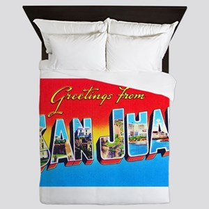 San Juan Puerto Rico Greetings Queen Duvet