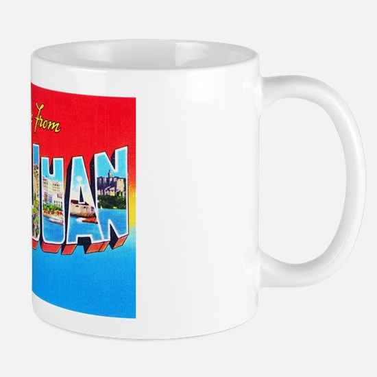 San Juan Puerto Rico Greetings Mug