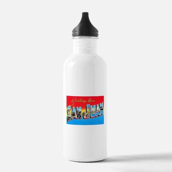 San Juan Puerto Rico Greetings Water Bottle