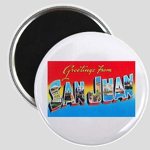 San Juan Puerto Rico Greetings Magnet