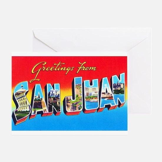 San Juan Puerto Rico Greetings Greeting Card