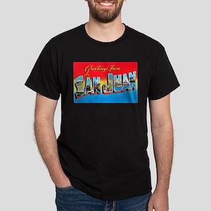 San Juan Puerto Rico Greetings Dark T-Shirt