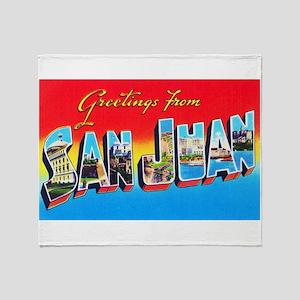 San Juan Puerto Rico Greetings Throw Blanket