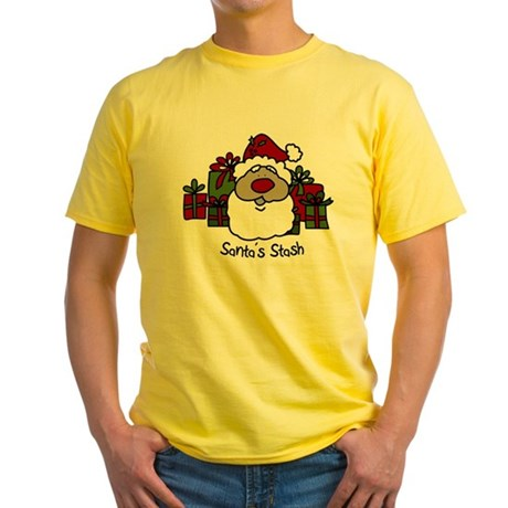 Santas Stash Yellow T-Shirt