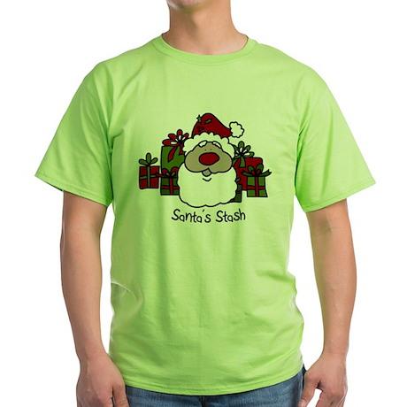 Santas Stash Green T-Shirt