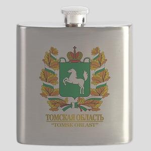 Tomsk Oblast COA Flask