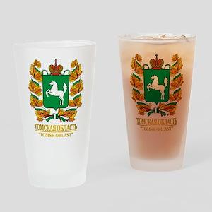 Tomsk Oblast COA Drinking Glass