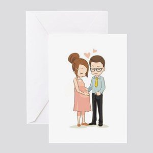We're Pregnant Greeting Card