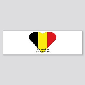 Belgian pride flag Bumper Sticker