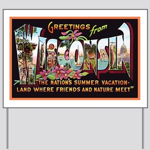 Wisconsin Greetings Yard Sign