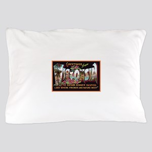 Wisconsin Greetings Pillow Case