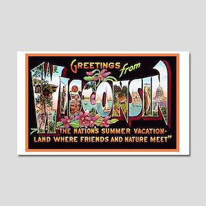 Wisconsin Greetings Car Magnet 20 x 12