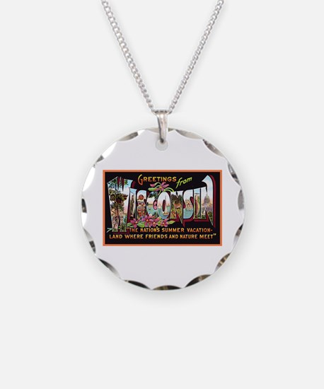 Wisconsin Greetings Necklace
