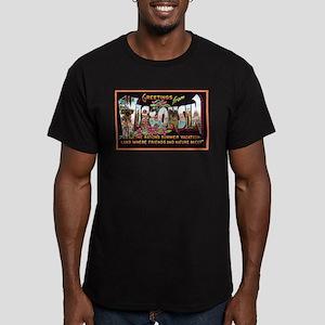 Wisconsin Greetings Men's Fitted T-Shirt (dark)