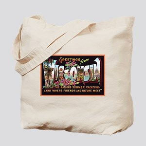 Wisconsin Greetings Tote Bag