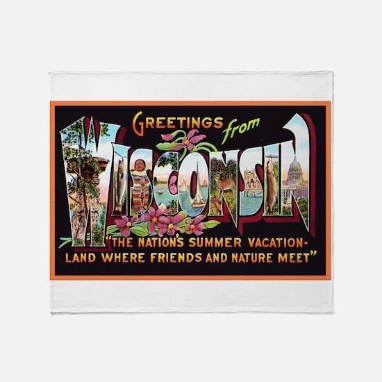 Wisconsin Greetings Throw Blanket