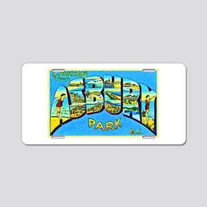 Asbury Park New Jersey Aluminum License Plate