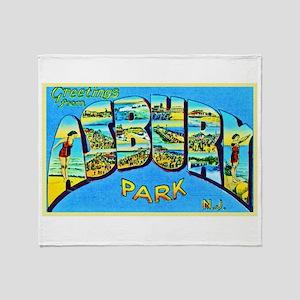 Asbury Park New Jersey Throw Blanket