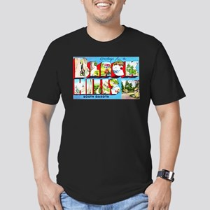 Black Hills South Dakota Men's Fitted T-Shirt (dar