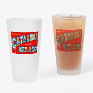 Catalina Island Greetings Drinking Glass