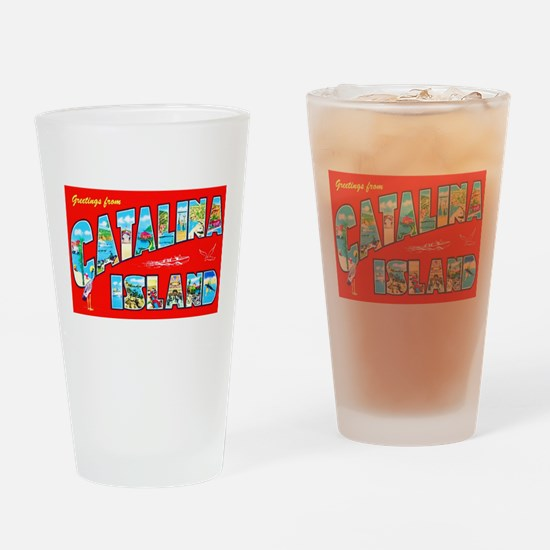Catalina Island Greetings Drinking Glass
