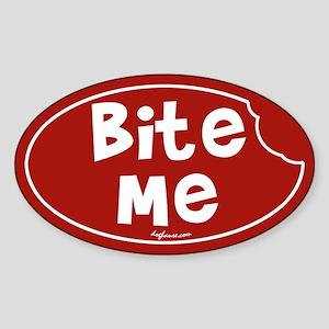 Bite Me Oval Sticker