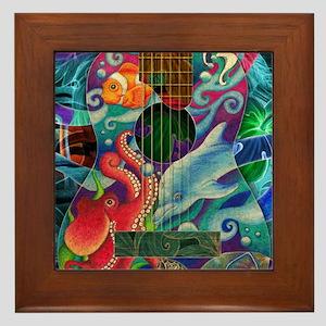 Ocean guitar Framed Tile