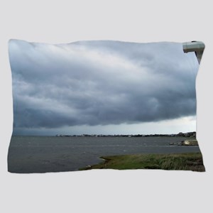 Storm Approaching Over Water Pillow Case