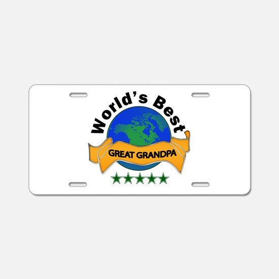 Funny Great grandfather Aluminum License Plate