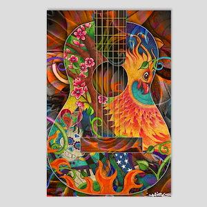 Phoenix Bird of Fire Guitar Postcards (Package of