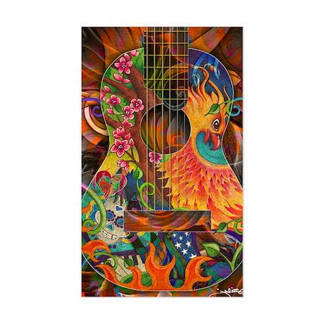 Phoenix Bird of Fire Guitar Sticker (Rectangle)