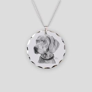 Weimaraner Necklace Circle Charm
