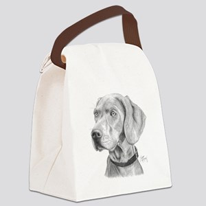 Weimaraner Canvas Lunch Bag