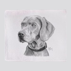 Weimaraner Throw Blanket