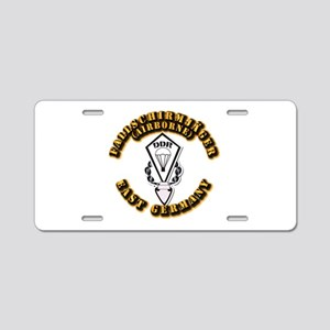 Airborne - East Germany Aluminum License Plate