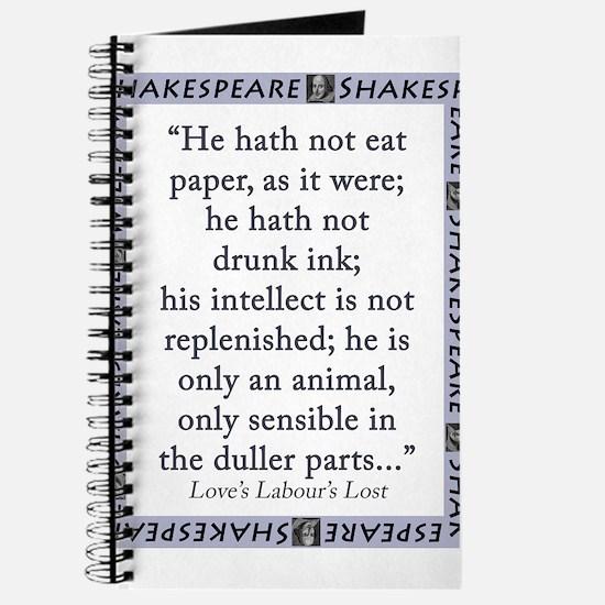 He Hath Not Eat Paper Journal
