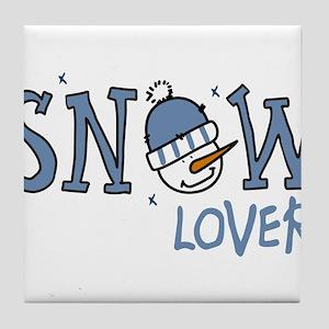 Snow Lover Tile Coaster