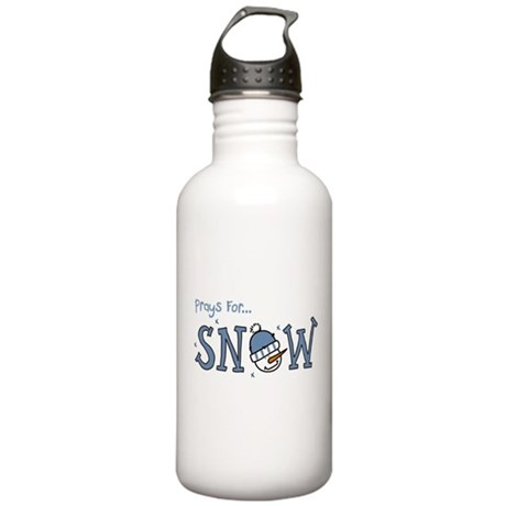 Prays For Snow Stainless Water Bottle 1.0L