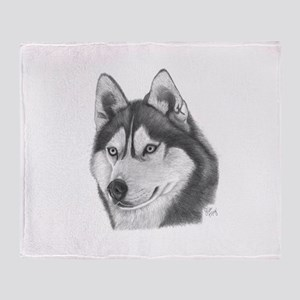 Siberian Husky Throw Blanket