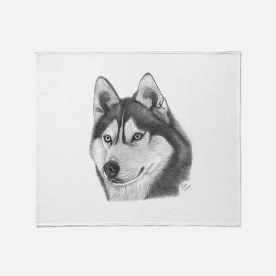 Siberian Husky Throw Blanket