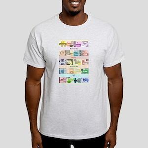 Word Collage Ash Grey T-Shirt