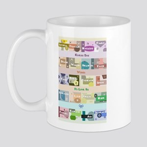 Word Collage Mug