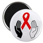 "HIV+ 2.25"" Magnet (100 pack)"