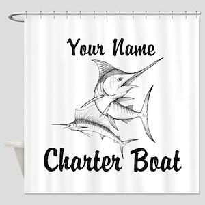 Custom Charter Boat Shower Curtain