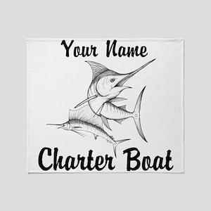 Custom Charter Boat Throw Blanket