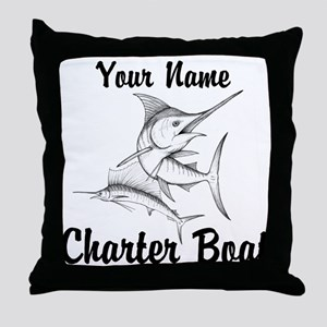 Custom Charter Boat Throw Pillow