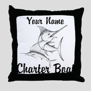 Custom Charter Boat Throw Pillow