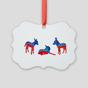 Dem Donkeys Picture Ornament