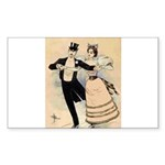 Couple Skating (1890) Sticker (Rectangle 10 pk)