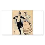 Couple Skating (1890) Sticker (Rectangle 10 pk)